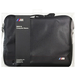 BMW 公式ライセンス品 PU Leather Computer Sleeve Carbon Effect Black Stripe 13インチ BMCS13MCC