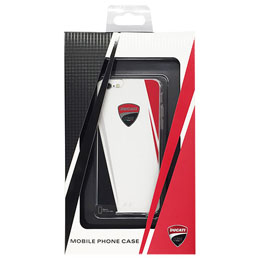 DUCATI 公式ライセンス品 クリスタルクリア素材ハードケース  iPhone6 用 DUC-CJIP6-RS/D1-WE