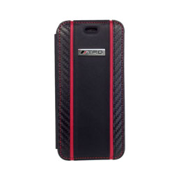 エアージェイ Carbon Leather Book Type Case for iPhone6/6S TRD-P47B7