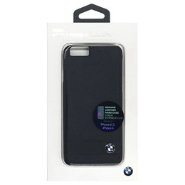 BMW 公式ライセンス品  Genuine Leather Hard Case - Black iPhone 6/6S BMHCP6GSBK