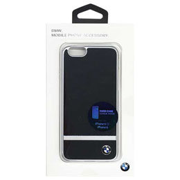 BMW 公式ライセンス品  PC Plate Hard Case - Aluminium Stripe - Black iPhone 6/6S BMHCP6ASBK