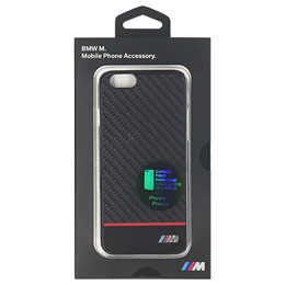 BMW 公式ライセンス品  PC Hard Case - Real Carbon Fiber - Red iPhone 6/6S BMHCP6CPRE