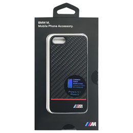 BMW 公式ライセンス品  PC Hard Case - Real Carbon Fiber - Red iPhone SE BMHCPSECPRE