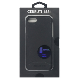 CERRUTI Smooth Split Leather - Hard Case - Black  CEHCP7SLBK