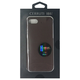 CERRUTI Smooth Split Leather - Hard Case - Brown  CEHCP7SLBR
