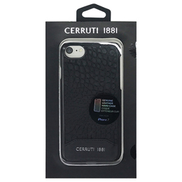 CERRUTI Crocodile Print Leather - Hard Case - Black CEHCP7MCBK