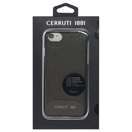 CERRUTI Crocodile Print Leather - Hard Case - Brown CEHCP7MCBR