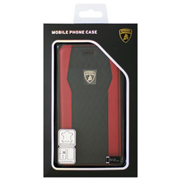 LAMBORGHINI iPhone7 Plus専用本革手帳型ケース Genuine Leather S-Skin Flip Case - Red LB-TPUFCIP7P-HU/D8-RD