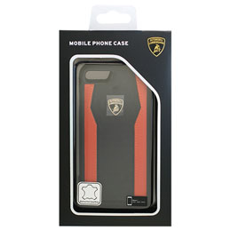 LAMBORGHINI iPhone7専用本革ハードケース Genuine Leather S-Skin Case - Orange LB-TPUPCIP7-HU/D8-OE