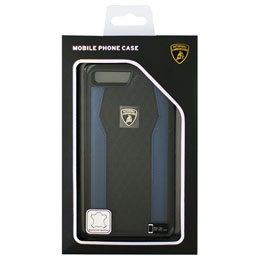 LAMBORGHINI iPhone7 Plus専用本革ハードケース Genuine Leather S-Skin Case - Blue LB-TPUPCIP7P-HU/D8-BE