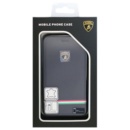 LAMBORGHINI iPhone7専用本革手帳型ケース Genuine Leather Ultra Slim Flip Case - Blue LB-SSFCIP7-TR/D8-BE