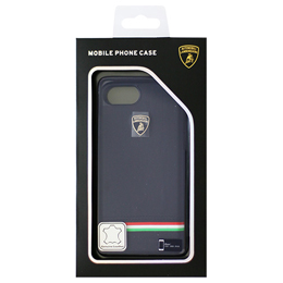 LAMBORGHINI iPhone7専用本革ハードケース Genuine Leather Ultra Slim Backcover - Blue LB-HCIP7-TR/D8-BE