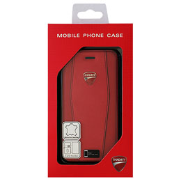 DUCATI iPhone7専用本革手帳型ケース Genuine Leather Flip Case - Red DU-TPUFCIP7-DI/D1-RD