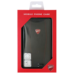 DUCATI iPhone7 Plus専用本革手帳型ケース Genuine Leather Flip Case - Black DU-TPUFCIP7P-DI/D1-BK