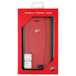 DUCATI iPhone7 Plus専用本革手帳型ケース Genuine Leather Flip Case - Red DU-TPUFCIP7P-DI/D1-RD
