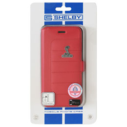 Shelby iPhone7専用PUレザー手帳型ケース Synthetic Leather Super Slim Flip Case Red CSL-SSHFCIP7-MU/D5-RD