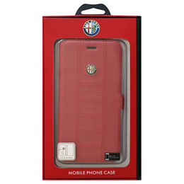 Alfa Romeo iPhone7 Plus専用スリム手帳型ケース Ultra Slim Flip Case Red AR-SSHFCIP7P-GI/D2-RD