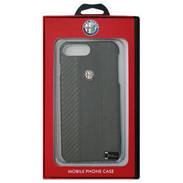 Alfa Romeo iPhone7 Plus専用カーボン調ハードケース Carbon Fibre Synthetic Leather Hard Case AR-HCIP7P-4C/D5-BK