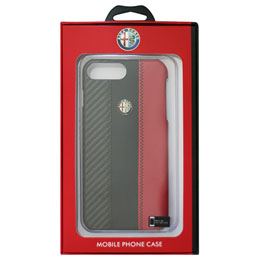 Alfa Romeo iPhone7 Plus専用カーボン調ハードケース Carbon Fibre Synthetic Leather Hard Case AR-HCIP7P-4C/D5-RD