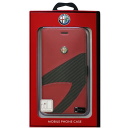 Alfa Romeo iPhone7 Plus専用PUレザー手帳型ケース Synthetic Leather Ultra Slim Flip Case 4C collection Red AR-SSHFCIP7P-4C/D2-RD