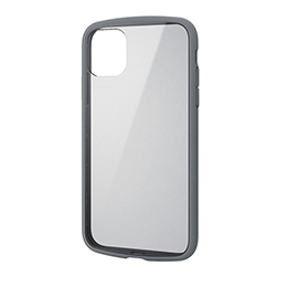 エレコム iPhone 11 TOUGH SLIM LITE フレームカラー グレー PM-A19CTSLFCGY