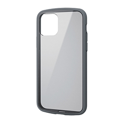エレコム iPhone 11 Pro TOUGH SLIM LITE フレームカラー グレー PM-A19BTSLFCGY