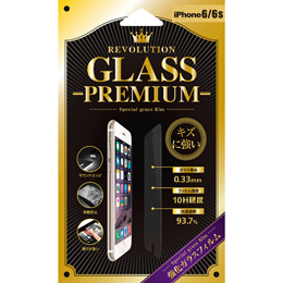 Revolution GLASS PREMIUM 0.33TR iPhone 6Sガラス保護フィルム 302842