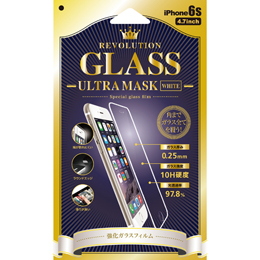 Revolution GLASS Ultra MASK WHITE iPhone 6Sガラス保護フィルム 302859