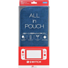 アンサー Switch用 ALL in POUCH(ブルー) ANS-SW008BL