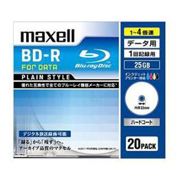 maxell BR25PPLWPB.20S データ用ブルーレイディスク BD-R 1回記録用 1-4倍速 25GB 20枚パック ホワイト