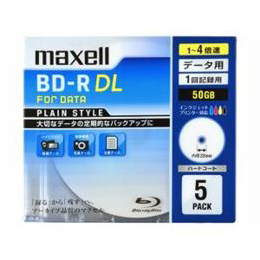 maxell 1-4倍速対応データ用ブルーレイディスクBD-R DL(50GB・5枚) BR50PPLWPB.5S